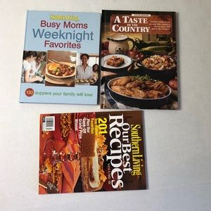 Southern Living Lot 3 cook books moms recipes
